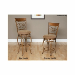 Ellen Swivel Stool in Light Bronze / Medium Oak - Largo - LARGO-ST-D230-2X