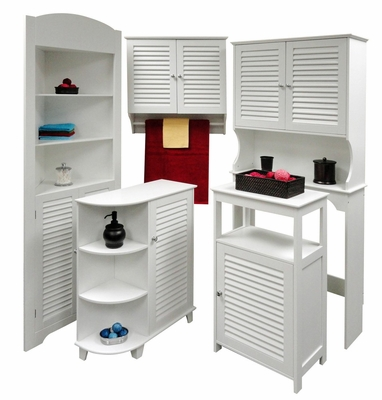 Ellsworth Bathroom Furniture Set in White - RiverRidge - 06-BATH-SET-1