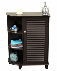 Ellsworth Floor Cabinet with Side Shelves in Espresso - RiverRidge - 06-026