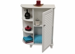 Ellsworth Floor Cabinet with Side Shelves in White - RiverRidge - 06-025