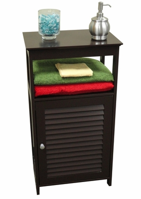 Ellsworth Single Door Floor Cabinet in Espresso - RiverRidge - 06-030