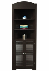 Ellsworth Tall Corner Etagere in Espresso - RiverRidge - 06-028