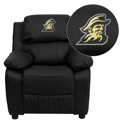 Embroidered Black Leather Appalachian State Mountaineers Kids Recliner - BT-7985-KID-BK-LEA-45000-EMB-GG