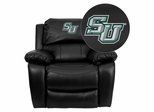 Embroidered Black Leather Rocker Recliner Stetson University Hatters - MEN-DA3439-91-BK-41075-EMB-GG
