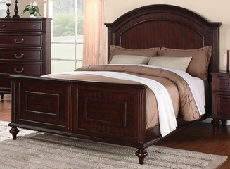 Emily California King Panel Bed in Cherry - 202561KW