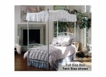 Emily Full Size Canopy Bed in White