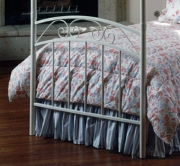 Twin Size Bed - Emily Twin Size Canopy Bed in White