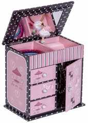 Emmaline Girl's Musical Ballerina Jewelry Box - 00720S13