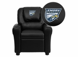 Emory University Eagles Black Kids Recliner - DG-ULT-KID-BK-45010-EMB-GG