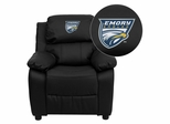 Emory University Eagles Leather Kids Recliner - BT-7985-KID-BK-LEA-45010-EMB-GG