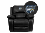 Emory University Eagles Leather Rocker Recliner - MEN-DA3439-91-BK-45010-EMB-GG