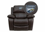 Emory University Eagles Leather Rocker Recliner - MEN-DA3439-91-BRN-45010-EMB-GG