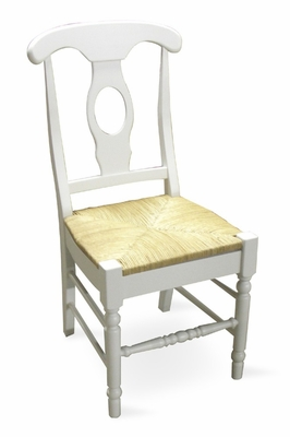 Empire Chair with Rush Seat (Set of 2) in Linen White - C31-1200P