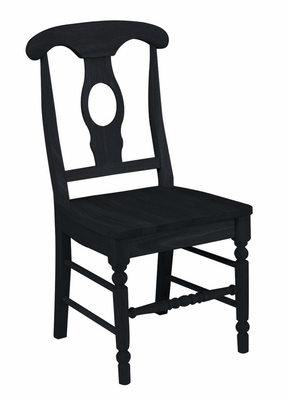 Empire Chair with Solid Wood Seat (Set of 2) in Black - C46-1202P