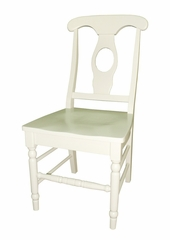 Empire Chair with Solid Wood Seat (Set of 2) in Linen White - C31-1202P