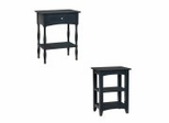 End Table Set in Black - Shaker Cottage - Alaterre