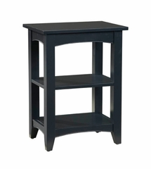 End Table with 2 Shelves in Black - Shaker Cottage - Alaterre - ASCA02BL