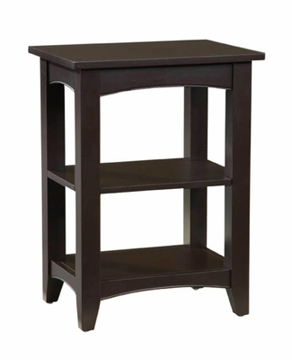 End Table with 2 Shelves in Chocolate - Shaker Cottage - Alaterre - ASCA02CL