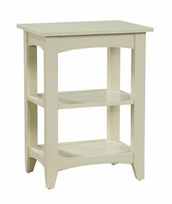 End Table with 2 Shelves in Sand - Shaker Cottage - Alaterre - ASCA02SA