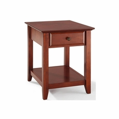 End Table With Storage Drawer in Classic Cherry - CROSLEY-CF1301-CH