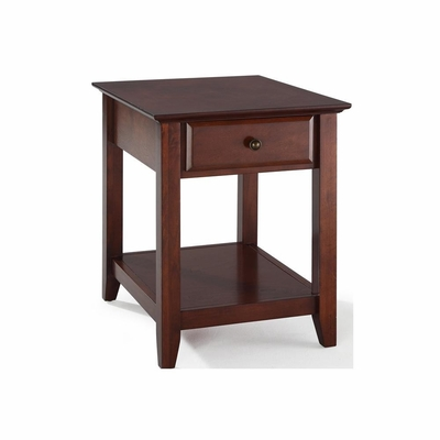 End Table With Storage Drawer in Vintage Mahogany - CROSLEY-CF1301-MA