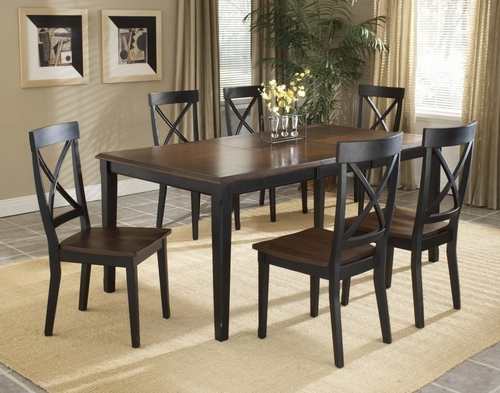 Englewood 7-Piece Dining Room Furniture Set - Hillsdale Furniture - 4884DTBC3