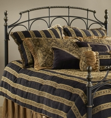 Ennis King Size Headboard in Rubbed Gold - Hillsdale - 1308-670