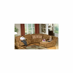 Enterprise 4PC Entertainment Sectional in Camel - Catnapper