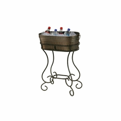 Entertainment Beverage Steel Tub Cart - Howard Miller