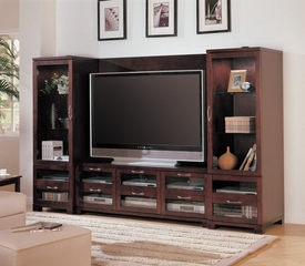 Entertainment Center - 4 Piece Set in Cappuccino - Coaster