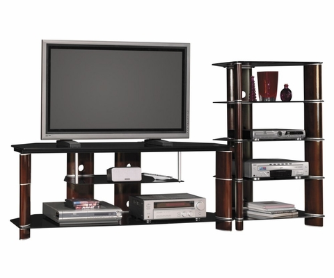 Entertainment Center for 60 Inch Flat Panel / Flat Screen TVs - Bush Furniture - ENTCEN-SET-5