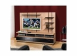 Entertainment Center Set 1 in Biscotti and Black - Eclipse Collection - Nexera Furniture - 400046
