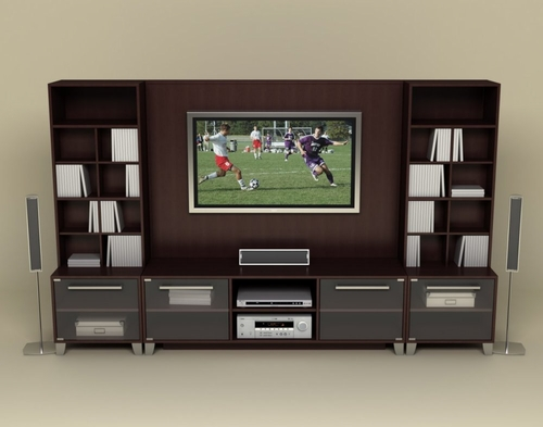 Entertainment Center Set 1 in Espresso - Brooklyn Collection - Nexera Furniture - 400050
