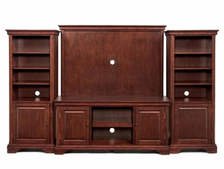 Entertainment Center Set in Cherry - Lafayette - 5537-ESET-1