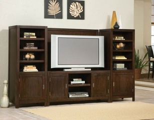 Entertainment Center Set in Espresso - City Chic - 5536-ESET-1