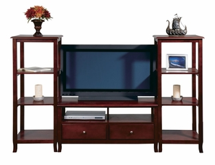 Entertainment Center Set in Merlot - Office Star - ESET-2