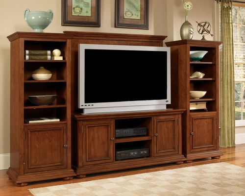 Entertainment Center Set in Warm Oak - Homestead - 5527-ESET
