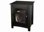 Entertainment Center Stand in Black - Crosley - ST75-BK