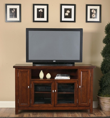 Entertainment Credenza in Cherry - Hanover - 5532-10