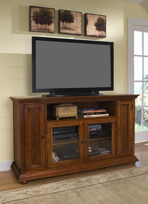 Entertainment Credenza in Warm Oak - Homestead - 5527-10