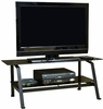 Entertainment Credenza TV Stand Black / Black Glass - Sauder Furniture - 404701