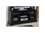 Entertainment Unit Base in Black Rub Finish - Wynwood Furniture - 1543-522