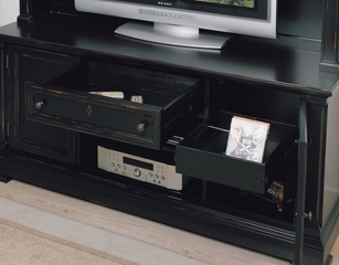 Entertainment Unit in Black Rub Finish - Wynwood Furniture - 1543-52