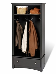 Entryway Organizer in Black - Sonoma Collection - Prepac Furniture - BEL-3369