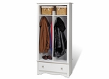 Entryway Organizer in White - Monterey Collection - Prepac Furniture - WEL-3369