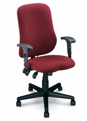 Ergonomic Office Chair - Comfort Contoured Support Chair in Burgundy - Mayline Office Furniture - 4019AG2112