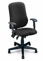 Ergonomic Office Chair - Comfort Contoured Support Chair in Gray - Mayline Office Furniture - 4019AG2110