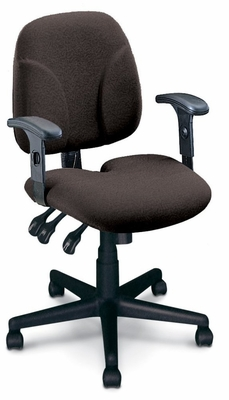 Ergonomic Office Chair - Comfort Multi-Function Task Chair in Gray - Mayline Office Furniture - 40212110