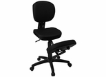 Ergonomic Office Chair with Back and Black Fabric - WL-1430-GG