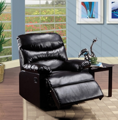 Espresso Bonded Leather Recliner - Arcadia - 59017